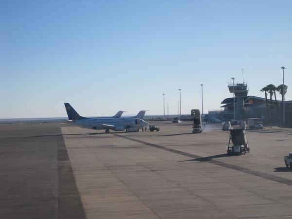 Tarmac upon arrival at Airport.