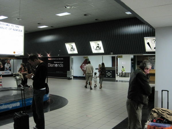 From the baggage claim area you will exit through the Customs and Excise passage area where you will be met by someone from Ozondjahe Safaris holding a sign in the arrival hall of the airport waiting to pick you up.