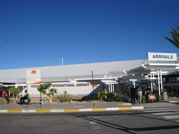 Arrivals at Hosea Kutako International Airport.