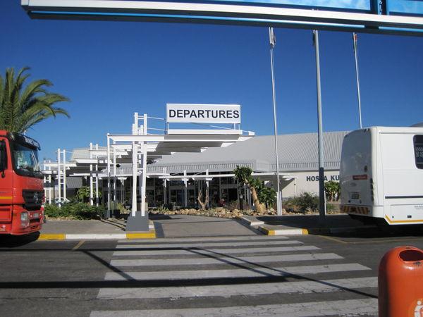 Departures at Hosea Kutako International Airport.